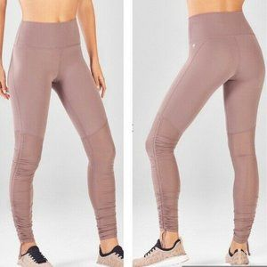 Fabletics Dusty Pink High Waist Ruched Leggings